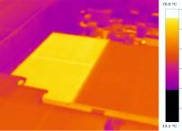 遮熱塗装  サーモグラフィデータ