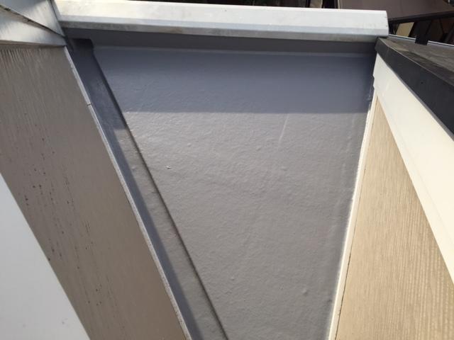 住宅バルコニー床防水遮熱塗装工事