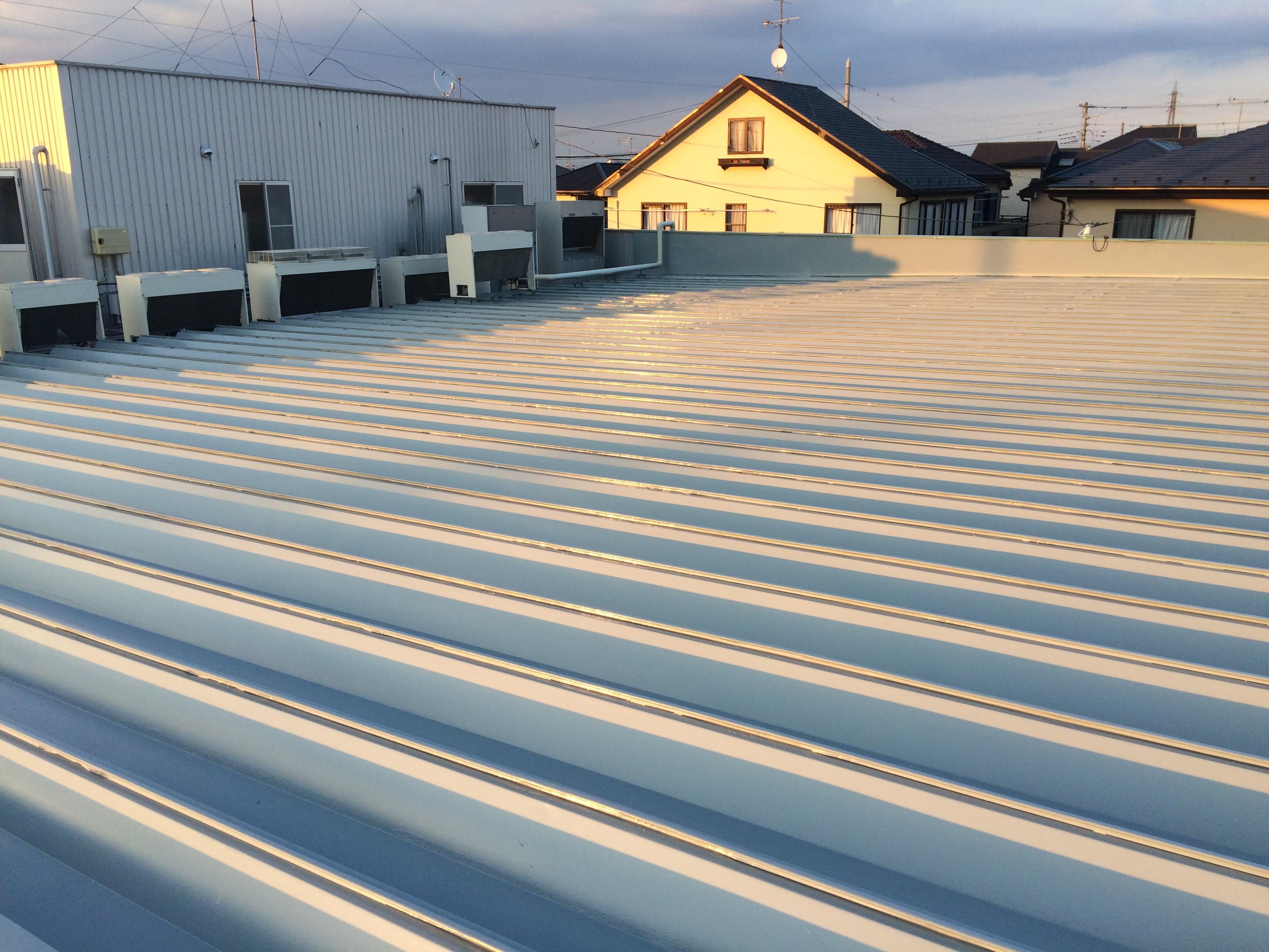 上尾市 商業施設 屋根塗装工事