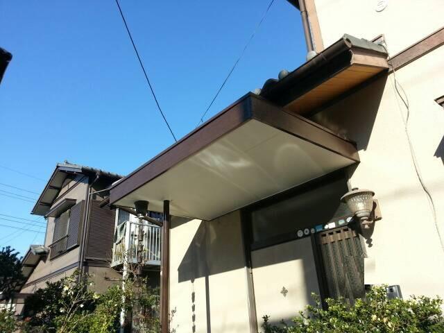 埼玉県桶川市 戸建住宅 庇塗装工事