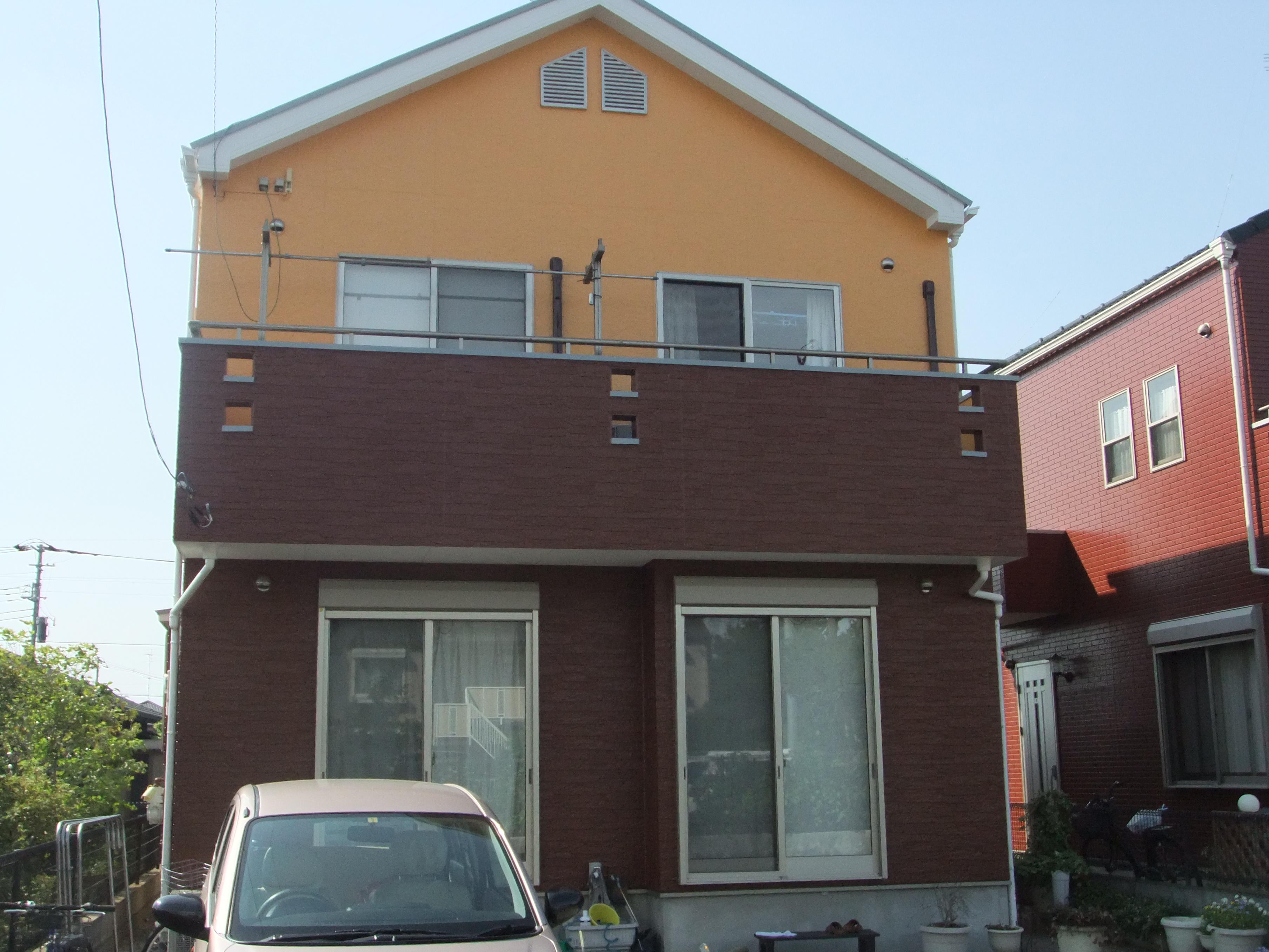 埼玉県上尾市K様邸 屋根遮熱塗装、外壁塗装工事