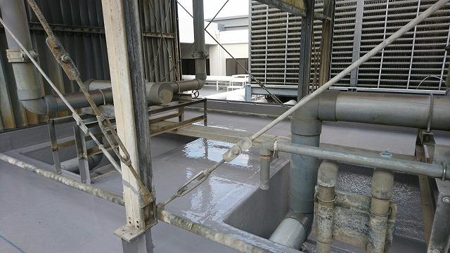 【防水改修工事】空調設備 クーリングタワー防水工事